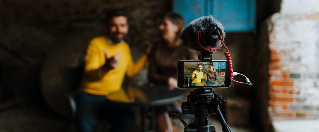 Emily & Alan from Yellow Tuxedo record some macro content