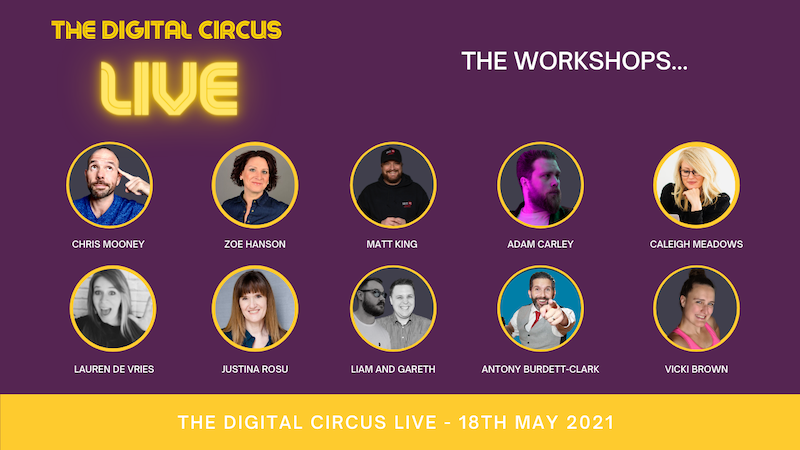 The Digital Circus LIVE 2021 ~ watch & learn on #Replay workshops